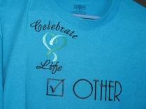 Cancer walk embroidered tshirt
