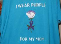 Embroidered Awareness rose tshirt