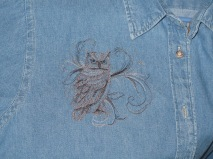 Embroidered Owl embroidered shirt