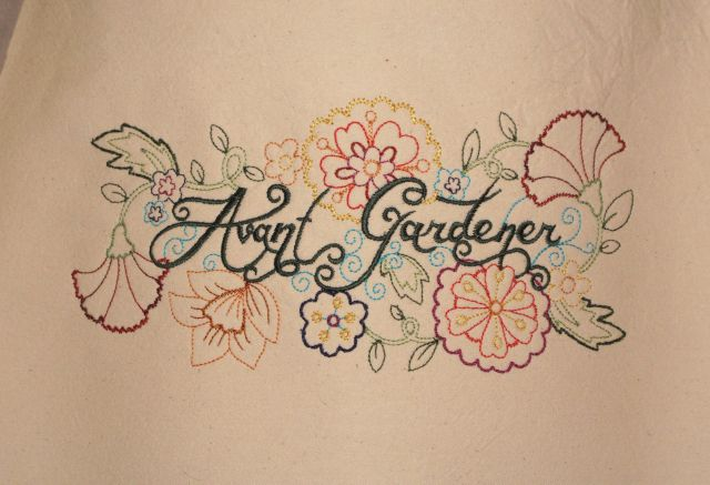 Embroidered Avant Gardener apron