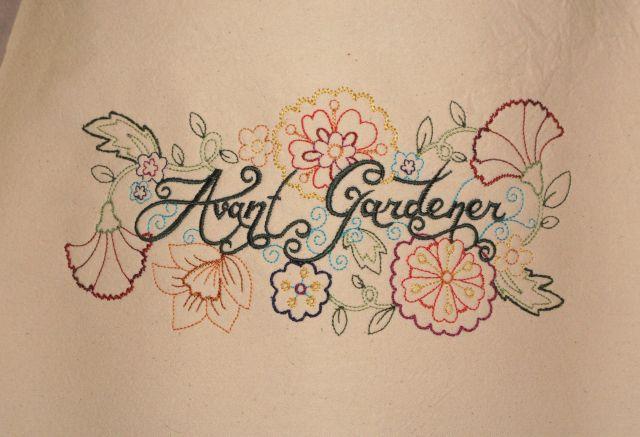 Embroidered Avant Gardener apron