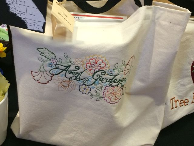 mg Embroidered Avant Gardener tote