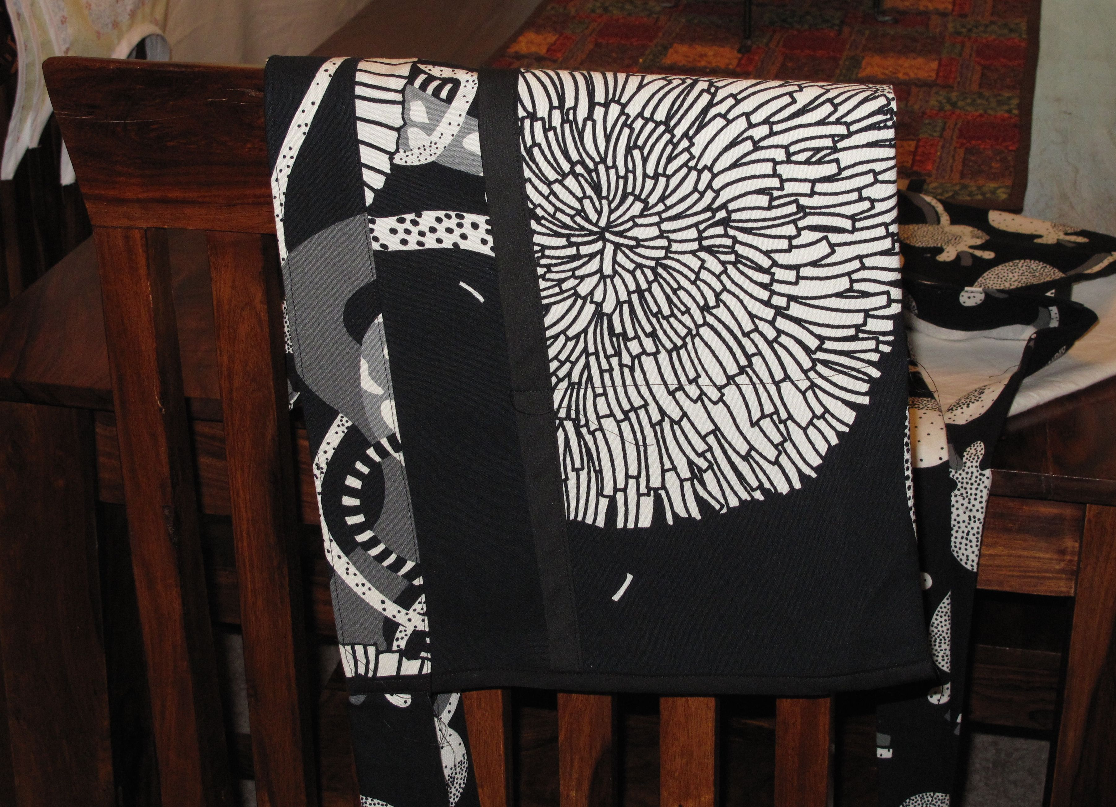 White apron joann fabrics - Black And White Cafe Apron