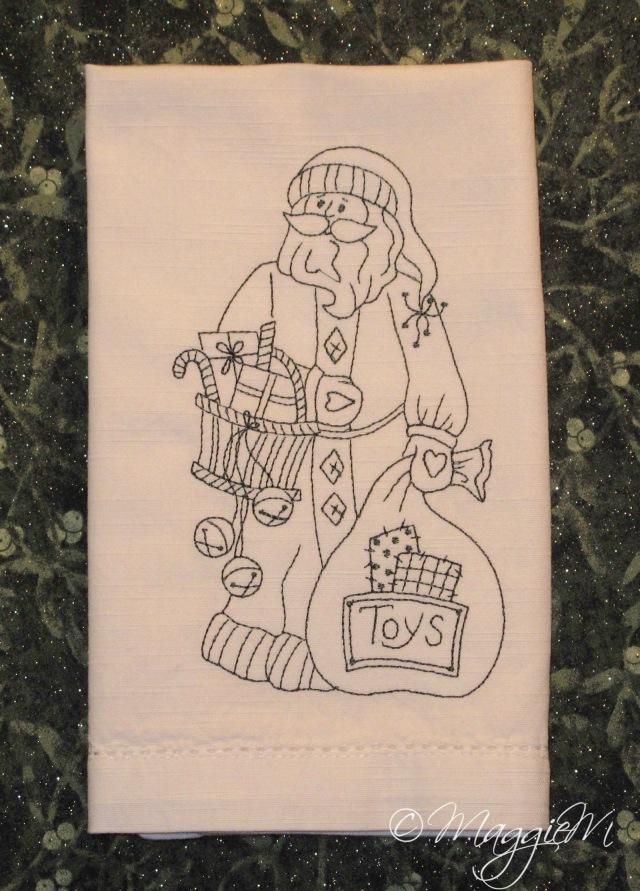 Santa toys napkin (1)