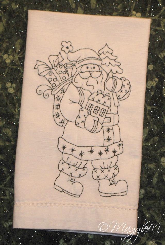 Santa tree napkin (1)
